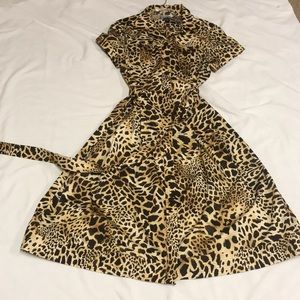 Size 14 Leopard Print Dress